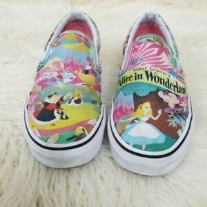 Vans Disney Alice in Wonderland Print Slip On